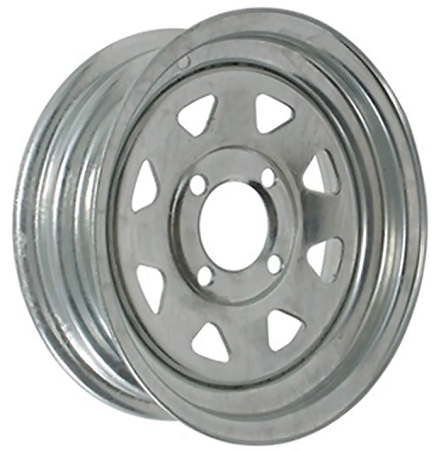 12x4 Galvanized Spoke Wheel
